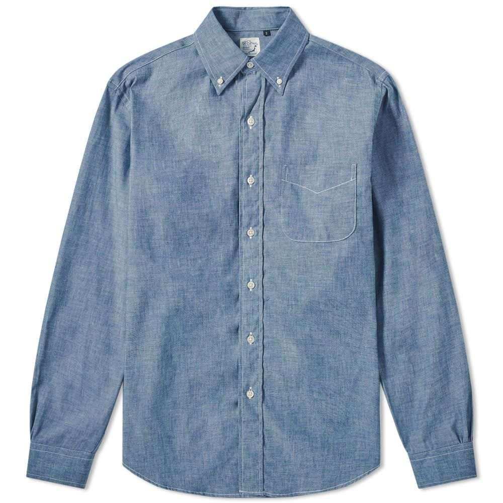 オアスロウ orSlow メンズ シャツ シャンブレーシャツ トップス【Button Down Chambray Shirt】Chambray