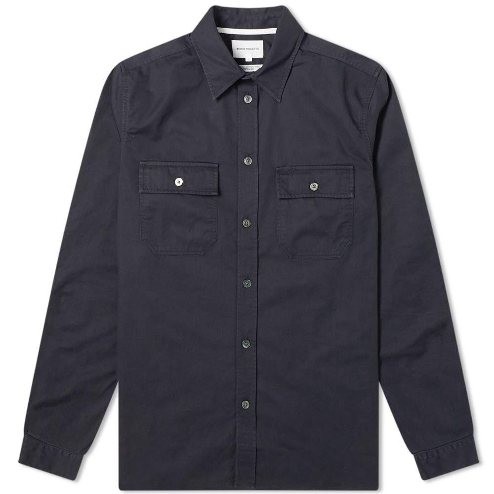 ノースプロジェクト Norse Projects メンズ シャツ トップス【Villads Panelled Pocket Shirt】Dark Navy