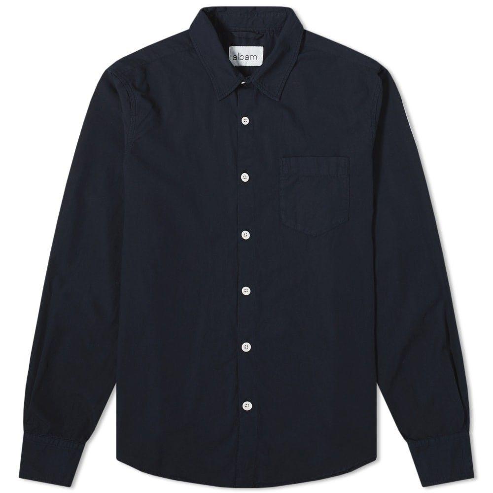 アルバム Albam メンズ シャツ トップス【Gysin Shirt】Navy