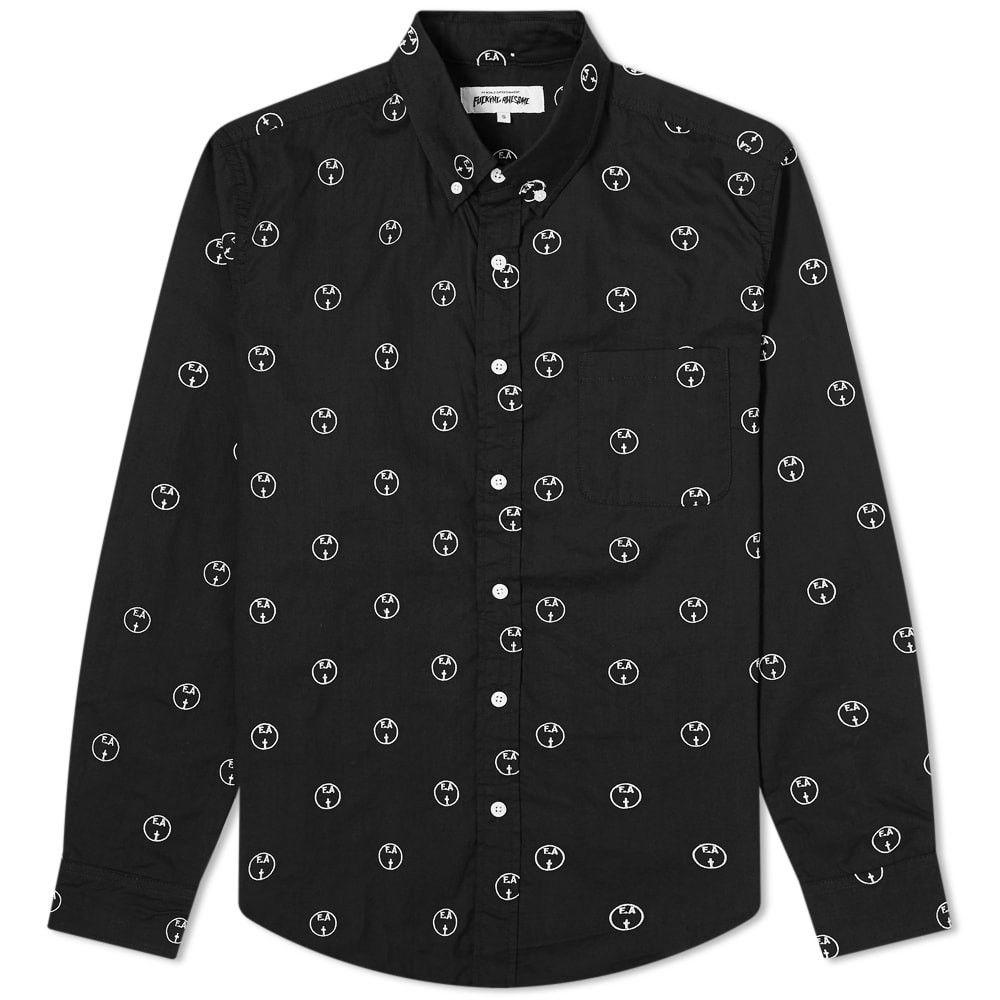 ファッキングオーサム Fucking Awesome メンズ シャツ トップス【Embroidered Oxford Shirt】Black