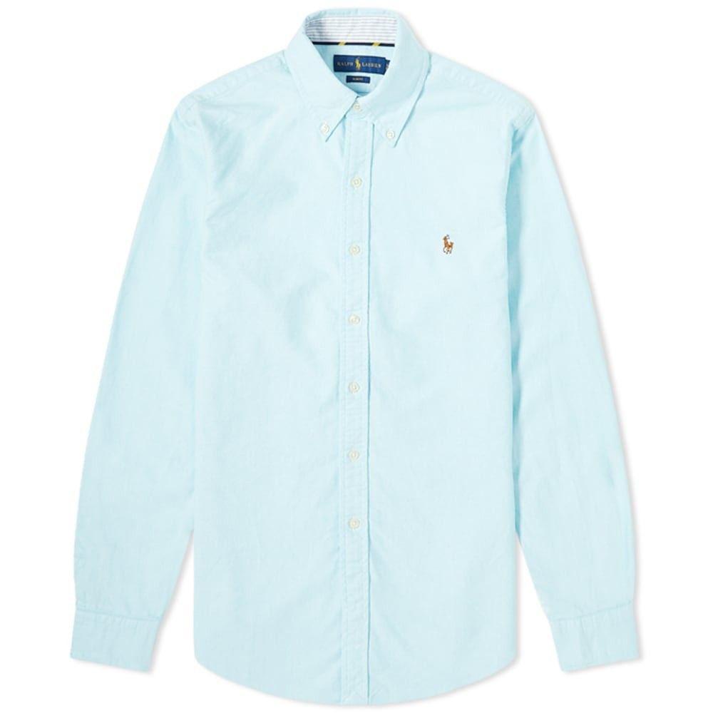 ラルフ ローレン Polo Ralph Lauren メンズ シャツ トップス【Slim Fit Button Down Oxford Shirt】Aegean Blue