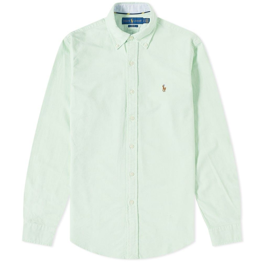 ラルフ ローレン Polo Ralph Lauren メンズ シャツ トップス【Slim Fit Button Down Oxford Shirt】Lime