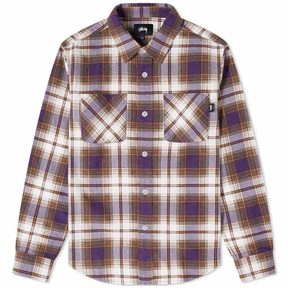 ステューシー Stussy メンズ シャツ トップス【Adam Plaid Shirt】Purple