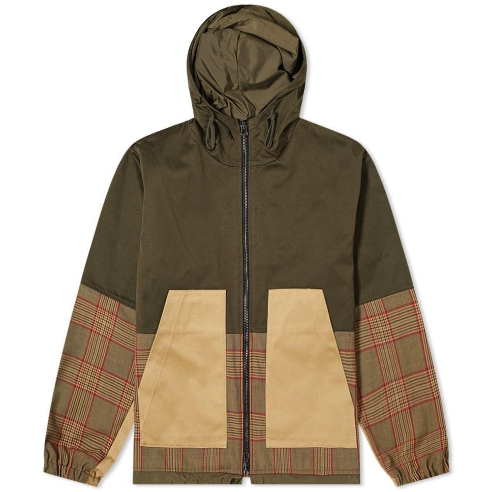 バレナ Barena メンズ ジャケット フード アウター【Panelled Check Hooded Jacket】Multi