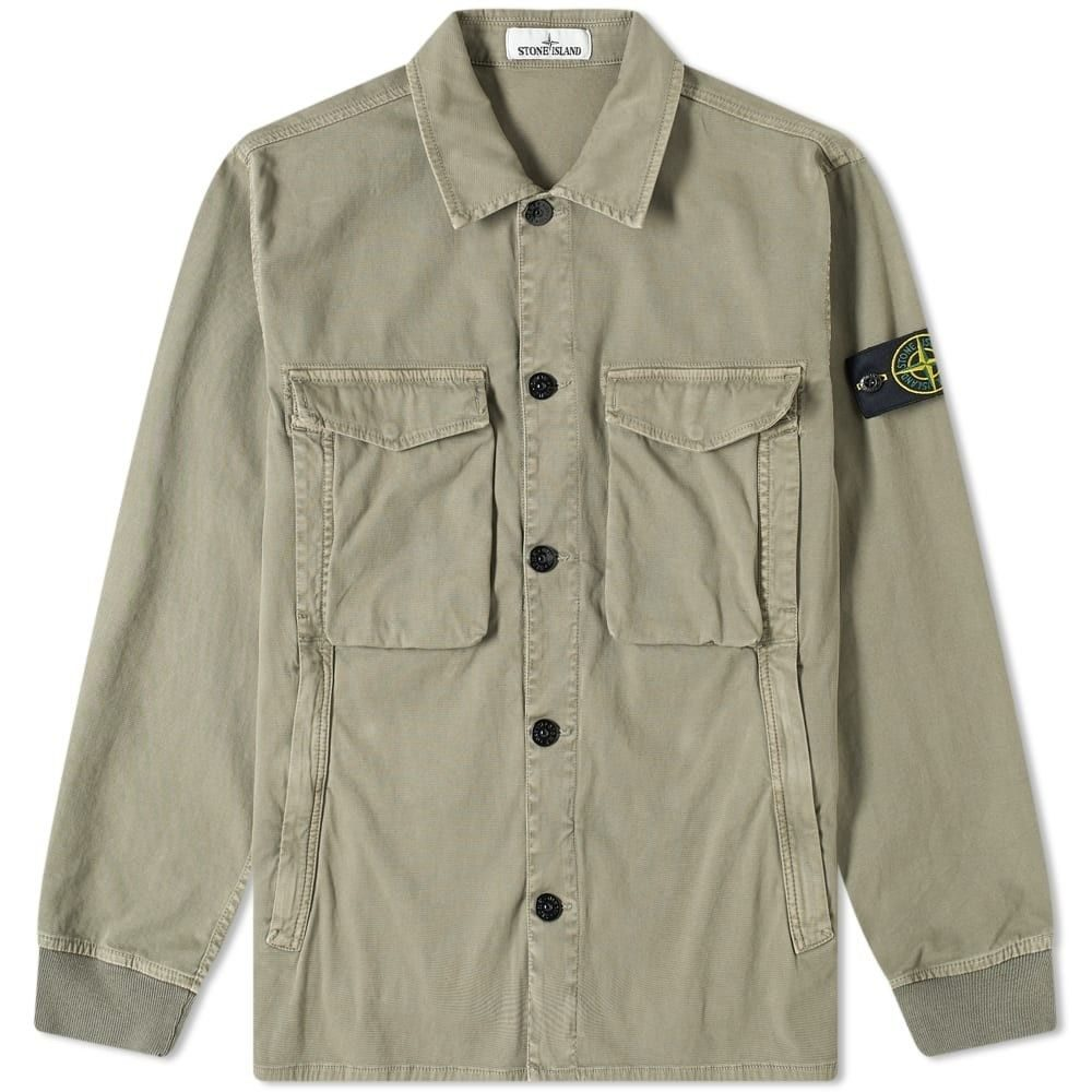 ストーンアイランド Stone Island メンズ ジャケット オーバーシャツ アウター【Garment Dyed Stretch Zip Overshirt】Fango