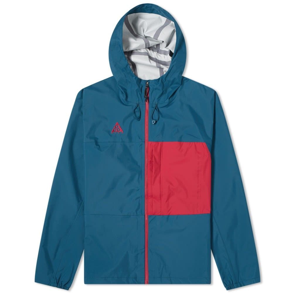 ナイキ Nike メンズ ジャケット フード アウター【ACG Packable Hooded Jacket】Midnight Turquoise/Noble Red
