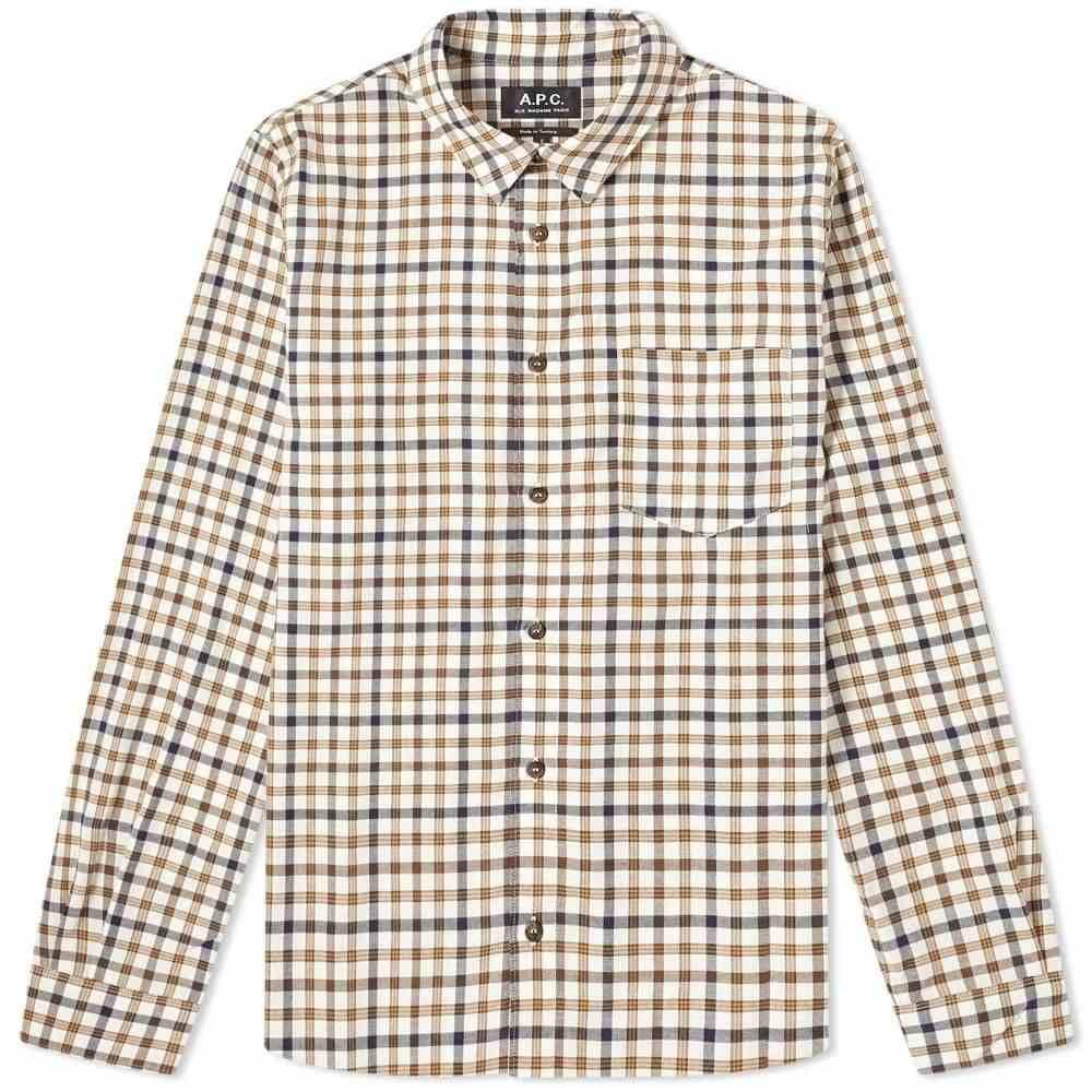 アーペーセー A.P.C. メンズ シャツ トップス【92 Wool Check Shirt】Ecru