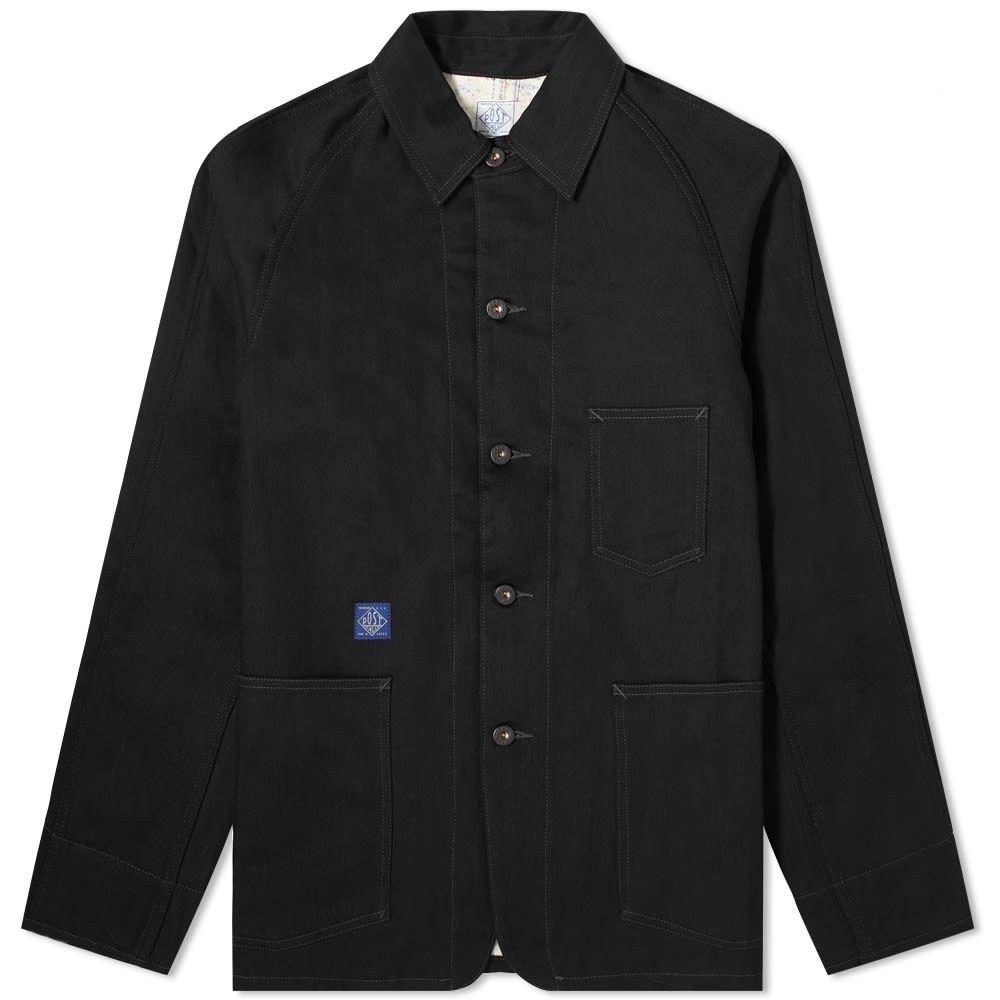 ポストオーバーオールズ Post Overalls メンズ ジャケット アウター【Lined 41-R Railroad Jacket】Black