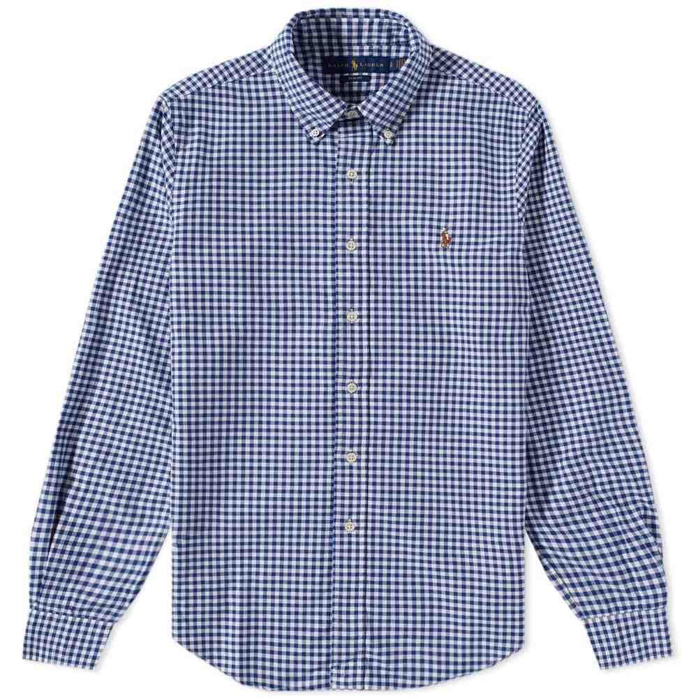 ラルフ ローレン Polo Ralph Lauren メンズ シャツ トップス【Button Down Gingham Oxford Shirt】Royal/White