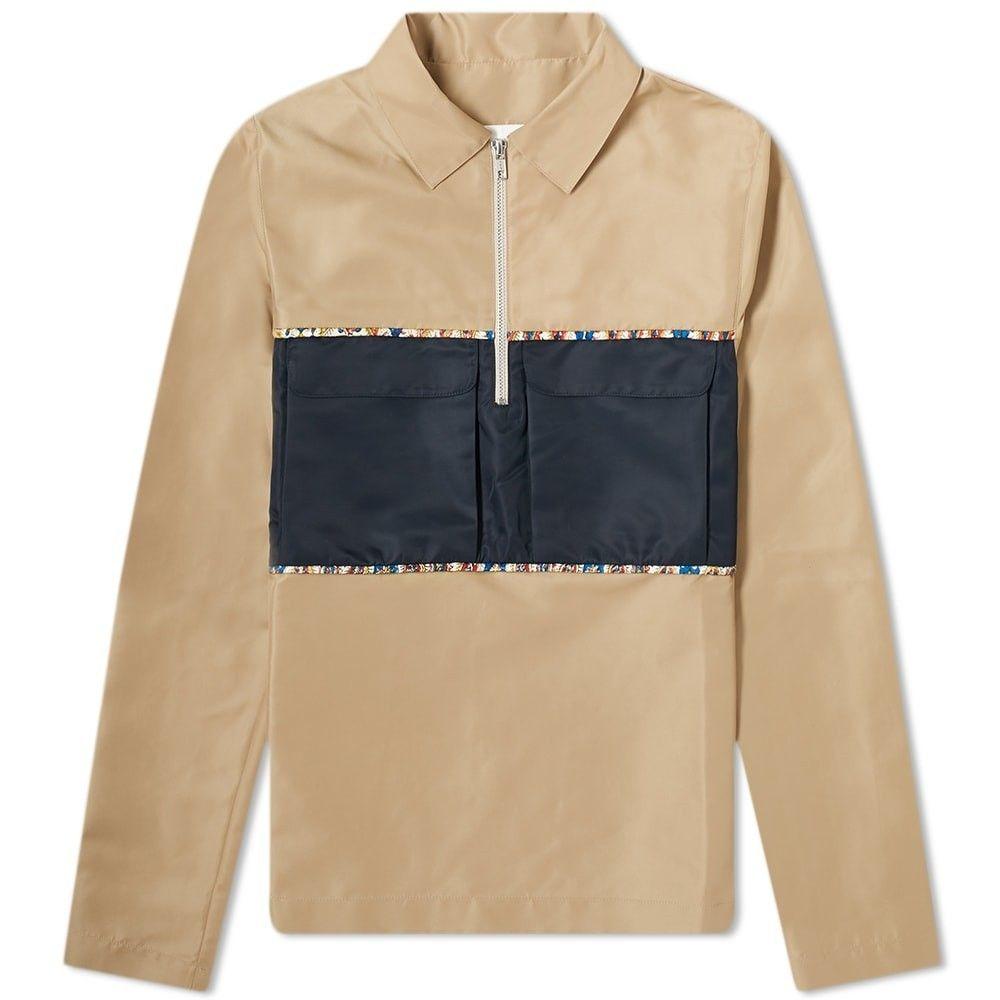 パリアファルザネ Paria Farzaneh メンズ シャツ トップス【Piping Detail Half Zip Shirt】Beige