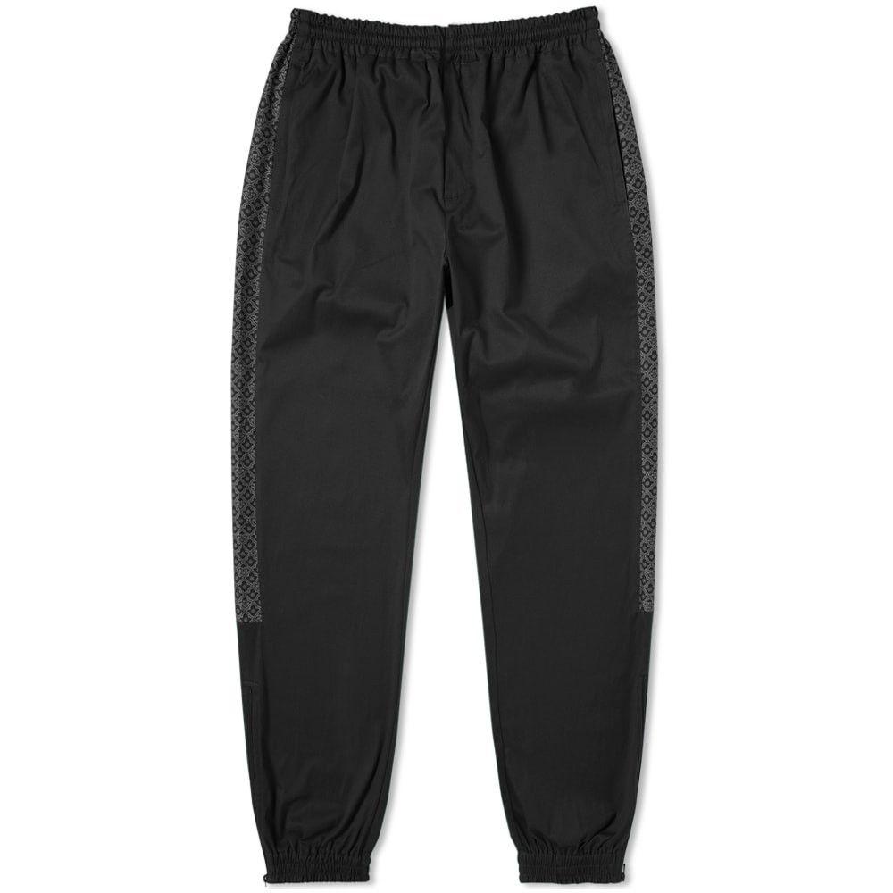 トレビアン Tres Bien メンズ スウェット・ジャージ ボトムス・パンツ【Warm Up Jacquard Panel Trouser】Black