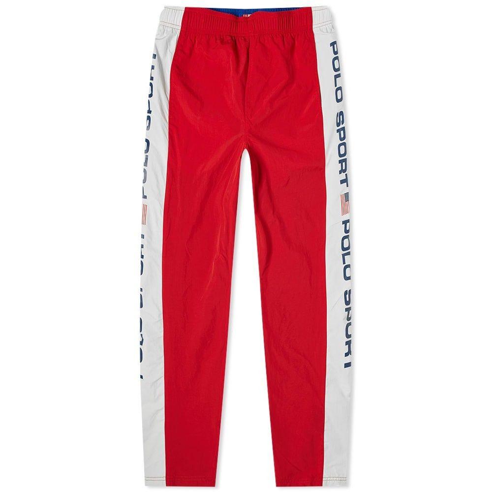 ポロスポーツ Polo Sport メンズ スウェット・ジャージ ボトムス・パンツ【Polo Ralph Lauren Shell Track Pant】Red/Pure White