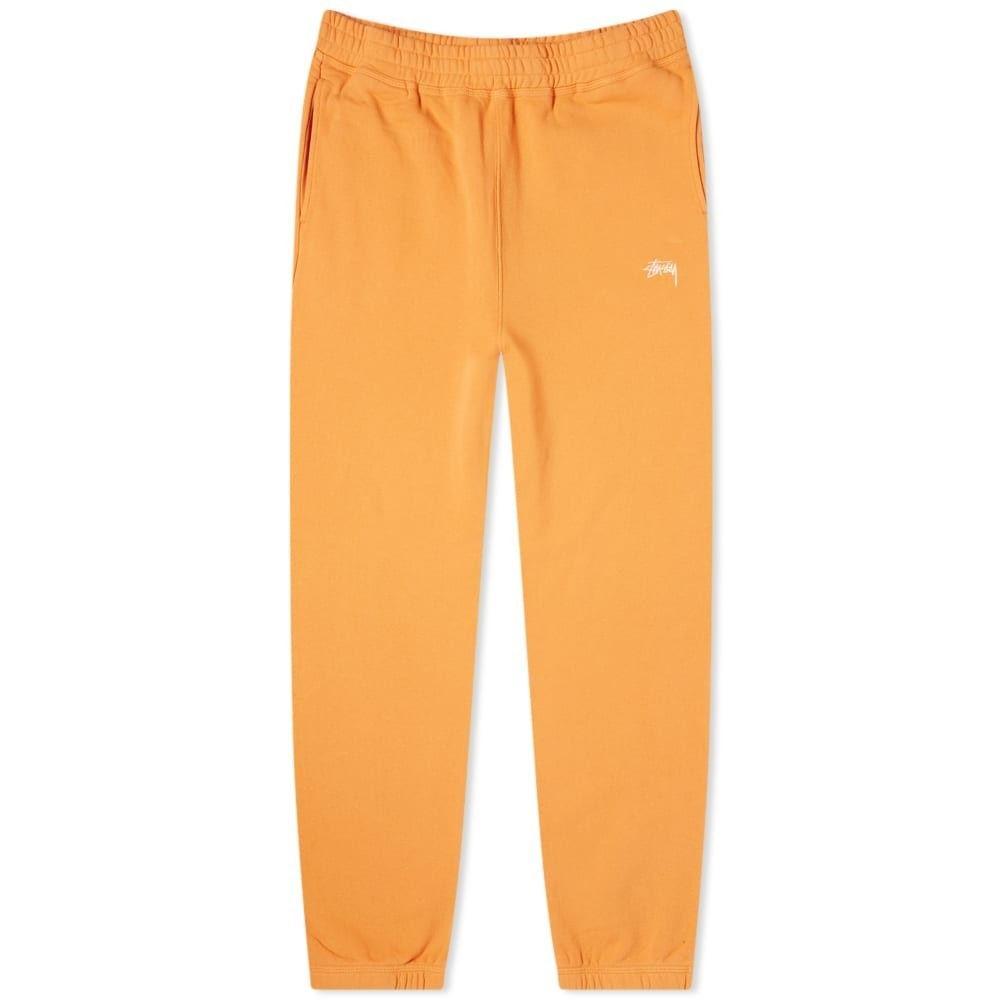 ステューシー Stussy メンズ スウェット・ジャージ ボトムス・パンツ【Stock Fleece Pant】Orange