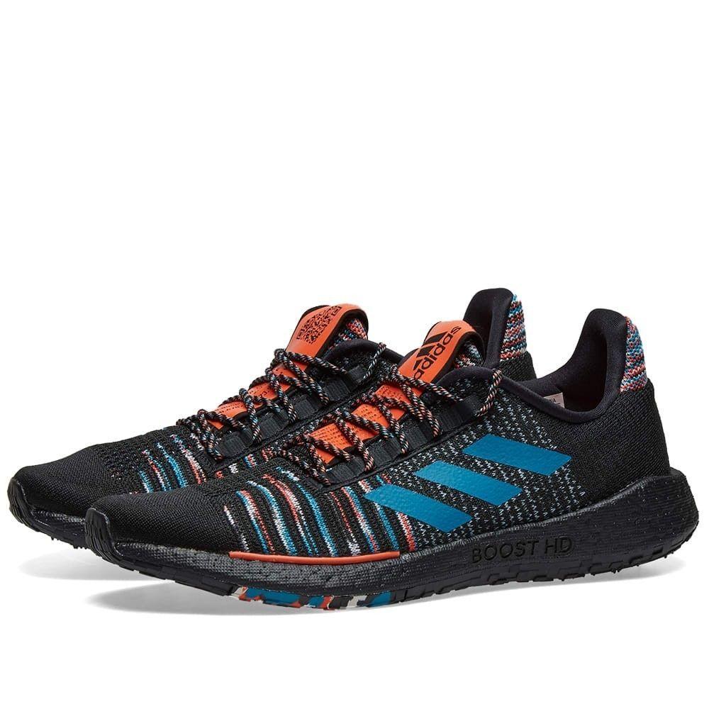 アディダス Adidas Consortium メンズ スニーカー ミッソーニ シューズ・靴【Adidas x Missoni Pulseboost HD】Black/White/Orange