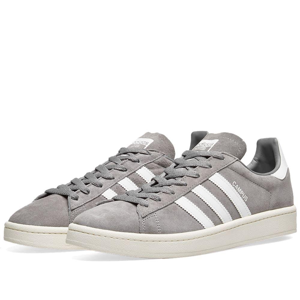 アディダス Adidas メンズ スニーカー シューズ・靴【Campus】Grey Three/Chalk White