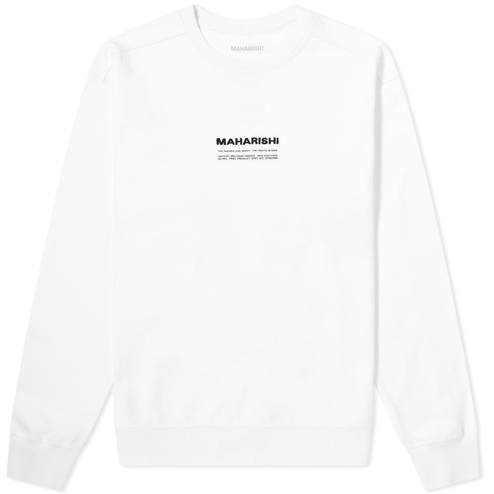 マハリシ Maharishi メンズ スウェット・トレーナー トップス【Classic MILTYPE Crew Sweat】White