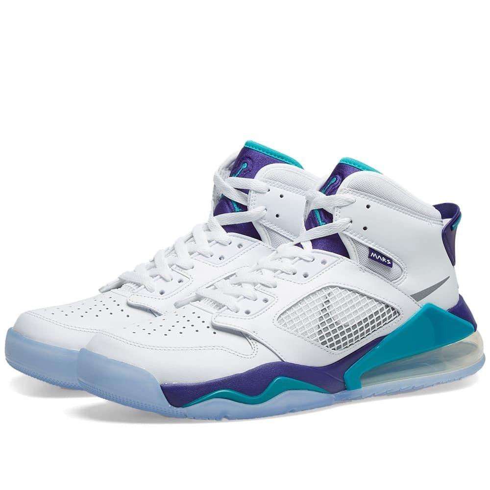 ナイキ ジョーダン Nike Jordan メンズ スニーカー シューズ・靴【Air Jordan Mars 270】White/Silver/Emerald Grape