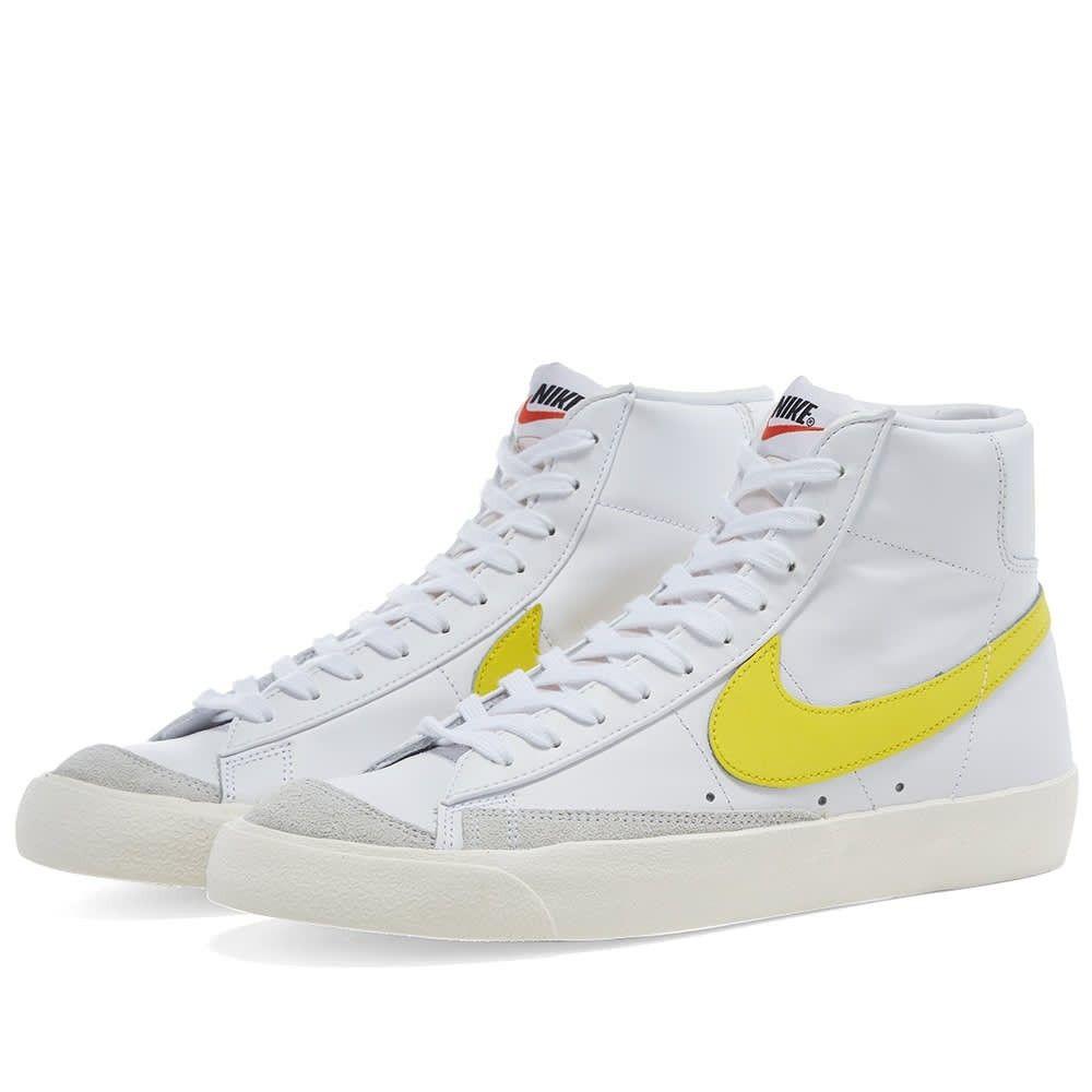 ナイキ Nike メンズ スニーカー シューズ・靴【Blazer Mid '77 Vintage】White/Optic Yellow