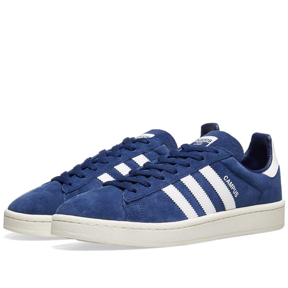 アディダス Adidas メンズ スニーカー シューズ・靴【Campus】Dark Blue/Chalk White