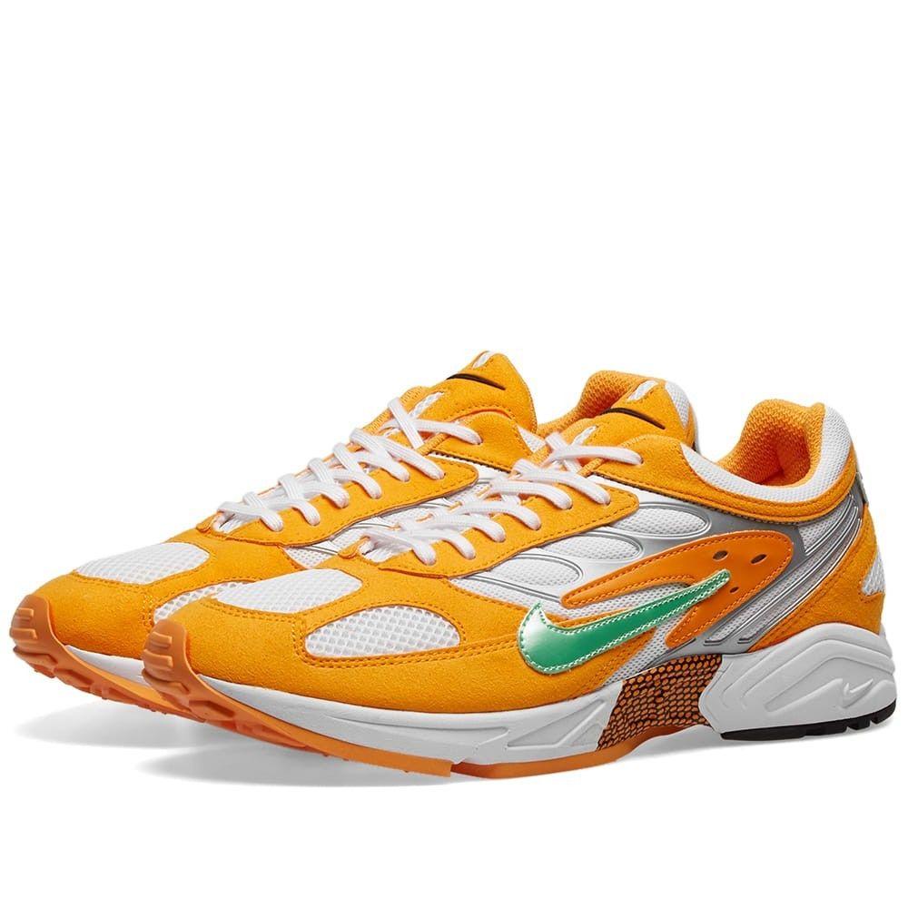 ナイキ Nike メンズ スニーカー シューズ・靴【Air Ghost Racer】Orange/Green/White