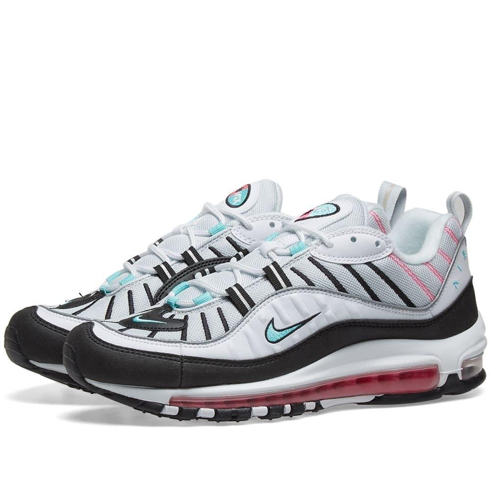 ナイキ Nike レディース スニーカー エアマックス 98 シューズ・靴【Air Max 98 W】Platinum/Green/Black/Pink