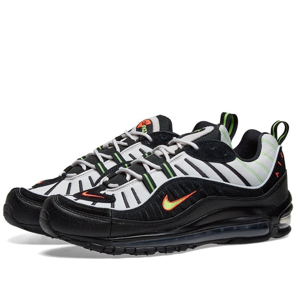 ナイキ Nike メンズ スニーカー シューズ・靴【Air Max 98】Platinum Tint/Black/Green