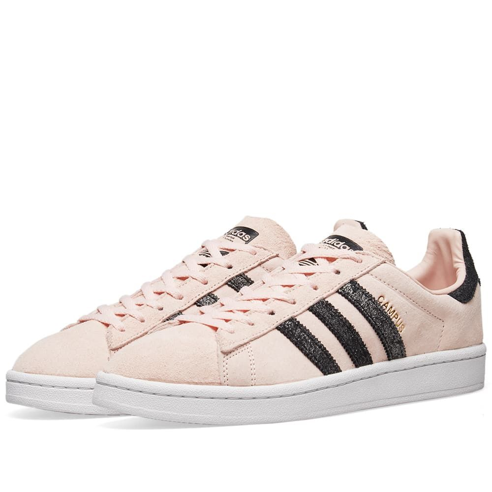 アディダス Adidas レディース スニーカー シューズ・靴【Campus W】Icey Pink/Black/White