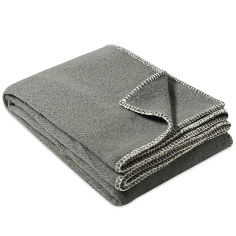 テクラ ファブリック Tekla Fabrics メンズ 雑貨 ブランケット【Pure New Wool Blanket】Green/Ivory