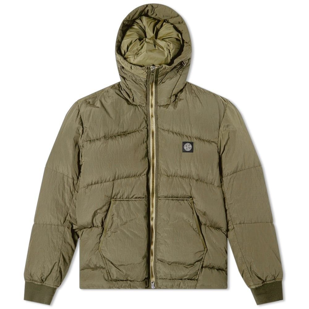 ストーンアイランド Stone Island メンズ ダウン・中綿ジャケット フード アウター【Nylon Metal Watro Hooded Down Jacket】Military Green