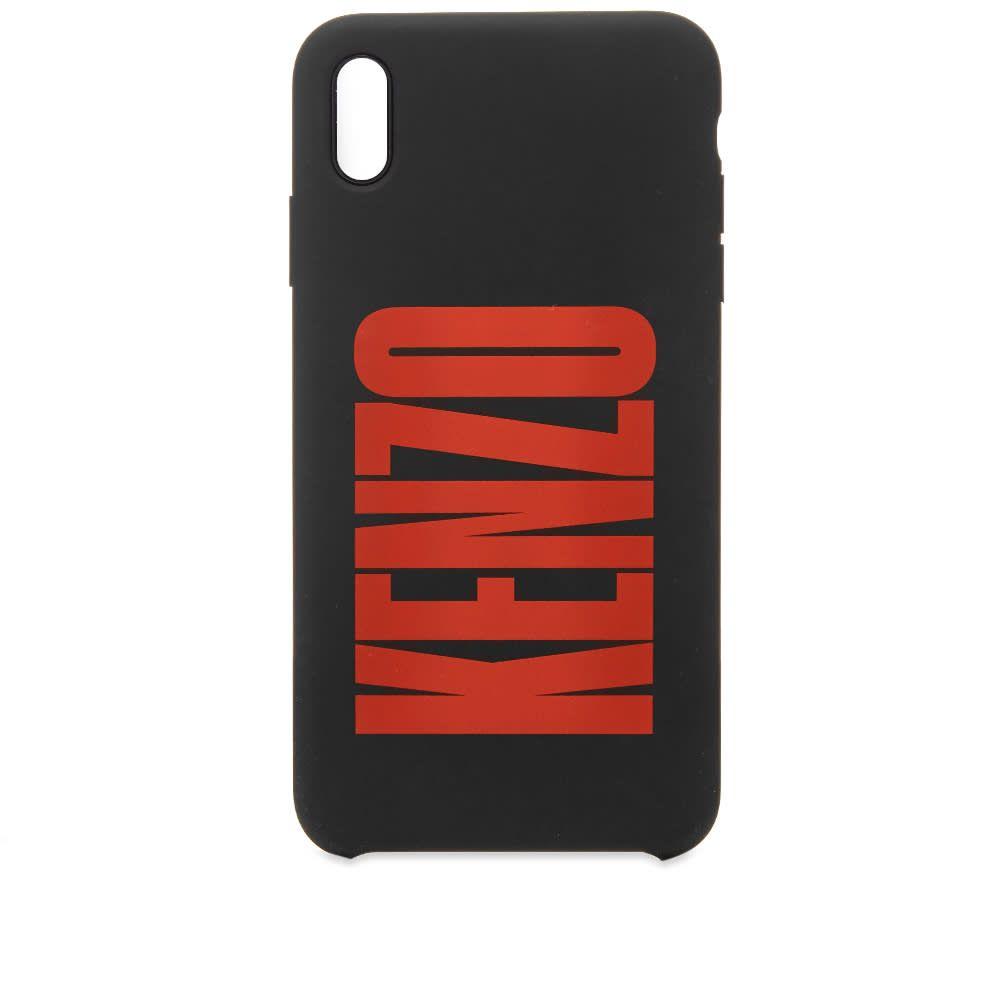 ケンゾー Kenzo メンズ iPhoneケース 【iPhone XS Max Silicone Logo Case】Black
