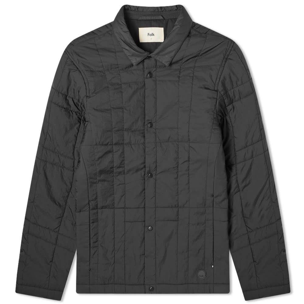 フォーク Folk メンズ ダウン・中綿ジャケット アウター【Quilted Grid Jacket】Black