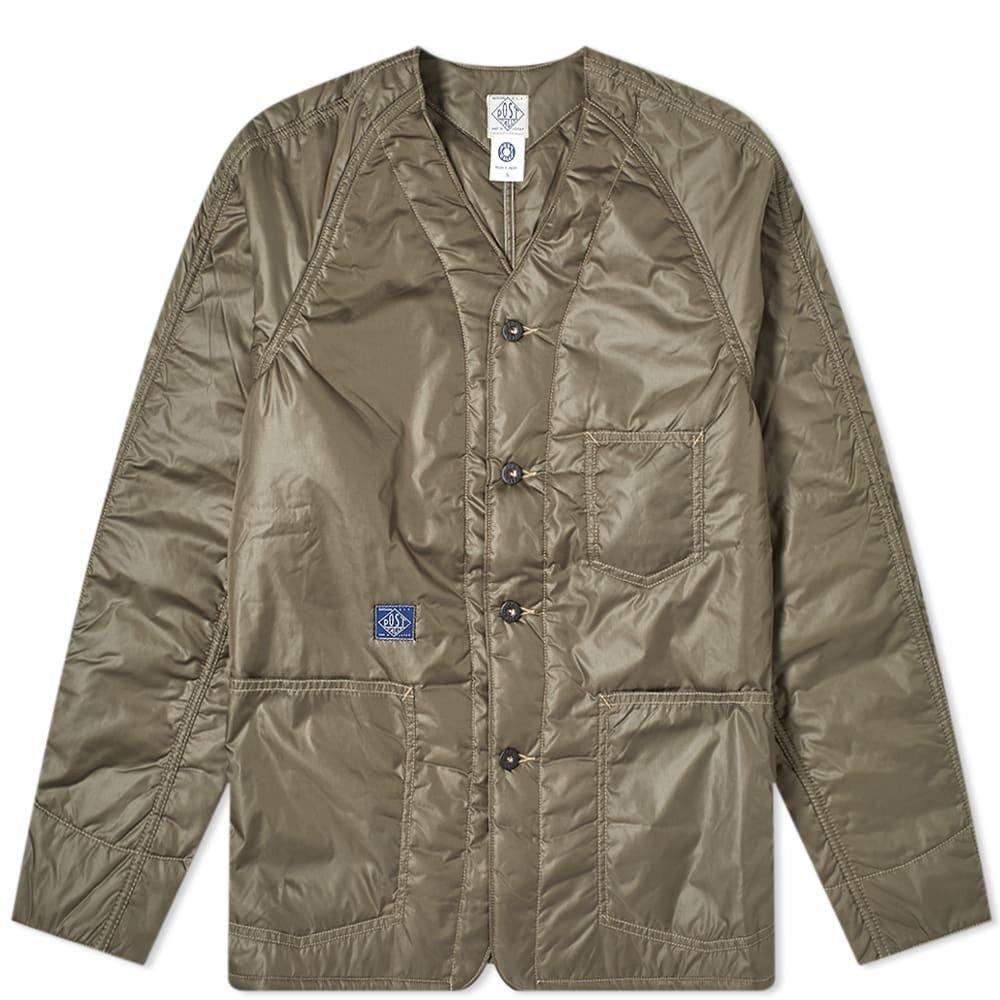 ポストオーバーオールズ Post Overalls メンズ ダウン・中綿ジャケット アウター【Padded Nylon Liner Jacket】Olive