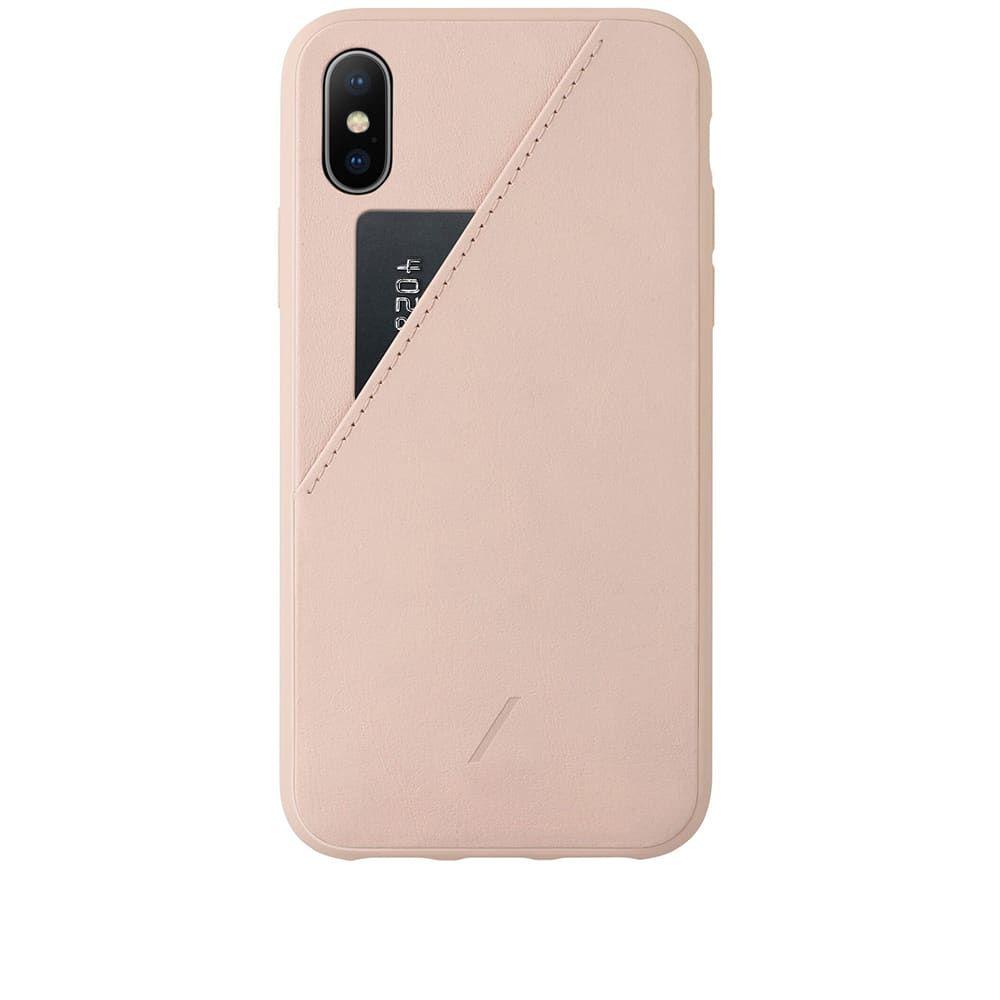 ネイティブユニオン Native Union メンズ iPhoneケース 【Clic Card iPhone XS Case】Rose