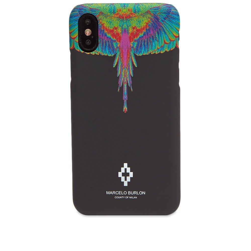 マルセロバーロン Marcelo Burlon メンズ iPhoneケース 【Fluo Wings XS Case】Black