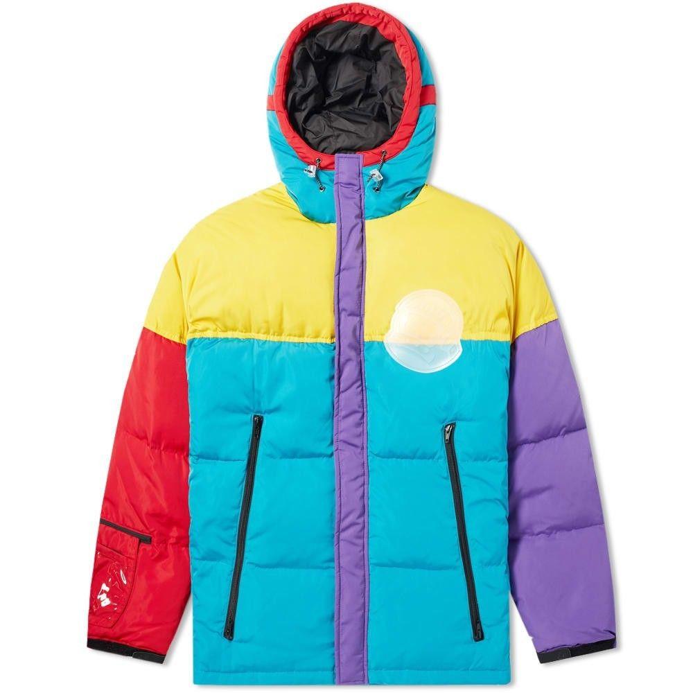 ビリオネアボーイズクラブ Billionaire Boys Club メンズ ダウン・中綿ジャケット アウター【Colour Block Puffer Jacket】Yellow/Multi