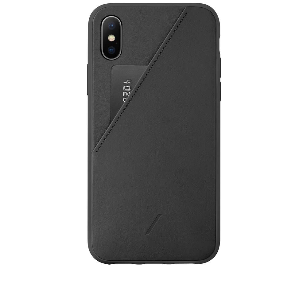 ネイティブユニオン Native Union メンズ iPhoneケース 【Clic Card iPhone XS Max Case】Black