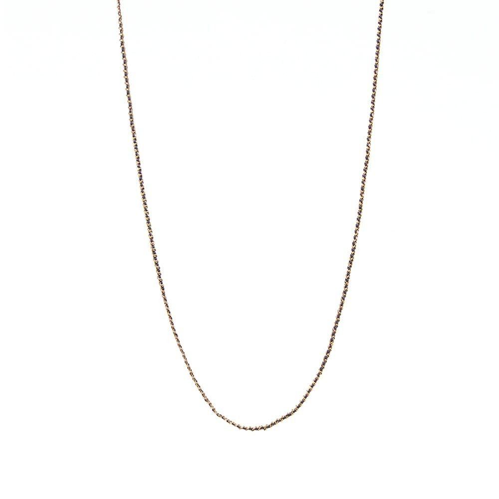 ミアンサイ Miansai メンズ ネックレス ジュエリー・アクセサリー【2mm Woven Chain Necklace】Gold/Navy
