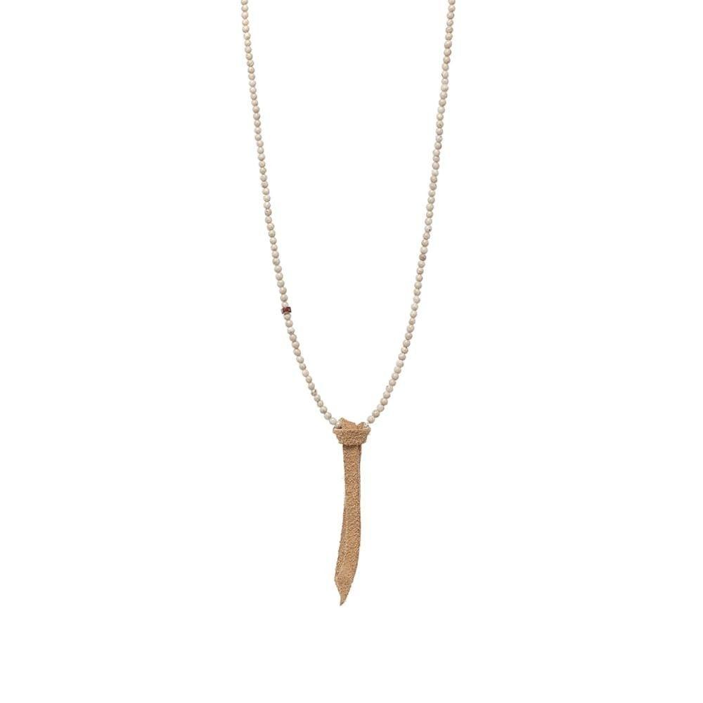 ミキア Mikia メンズ ネックレス ジュエリー・アクセサリー【Beaded Necklace】River Stone