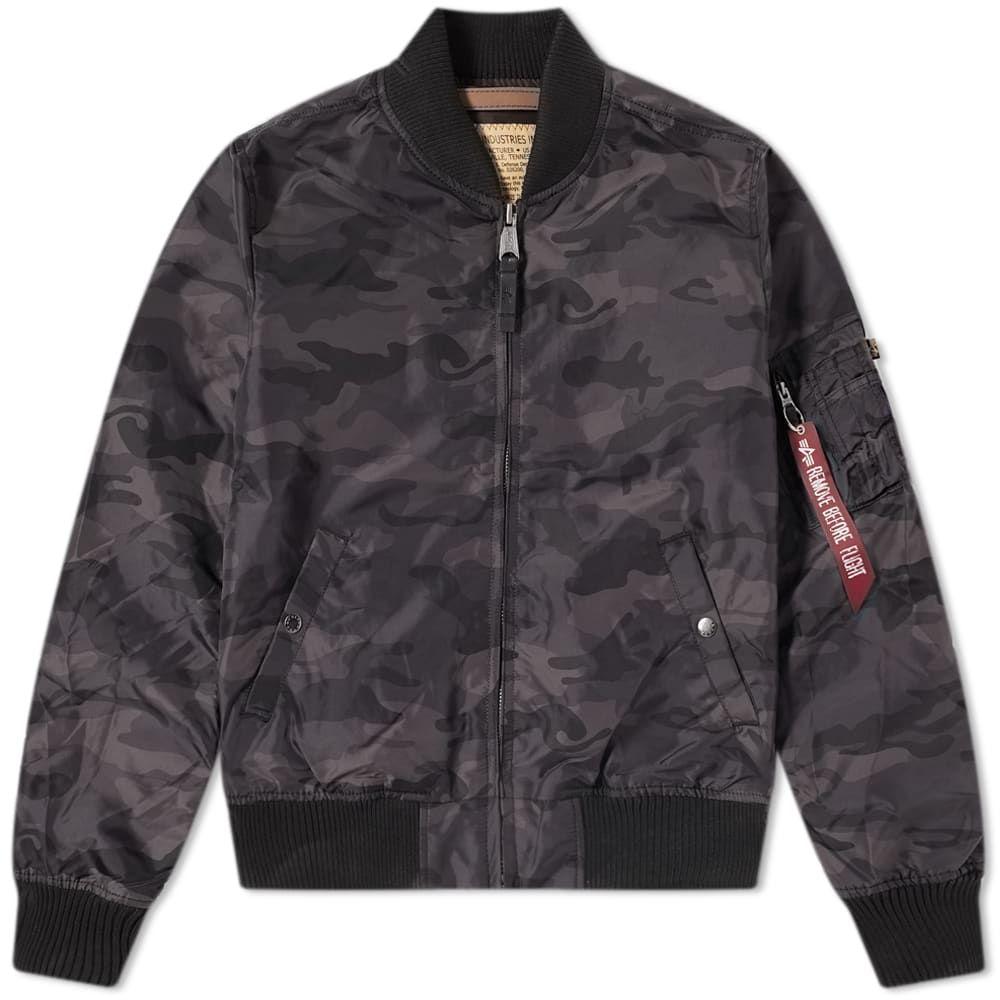 アルファ インダストリーズ Alpha Industries メンズ ブルゾン アウター【ma-1 tt jacket】Black Camo