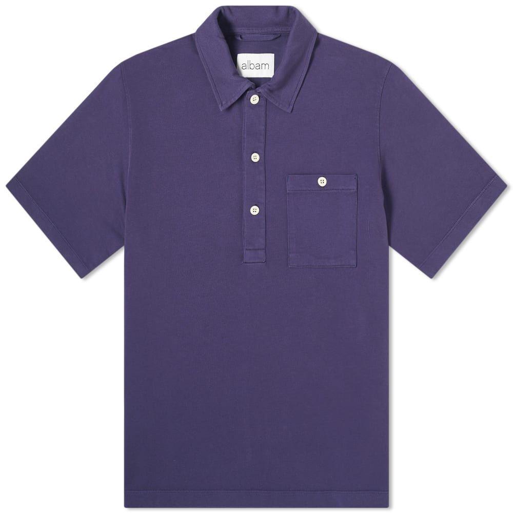 アルバム Albam メンズ ポロシャツ トップス【cotton pullover shirt】Rich Navy