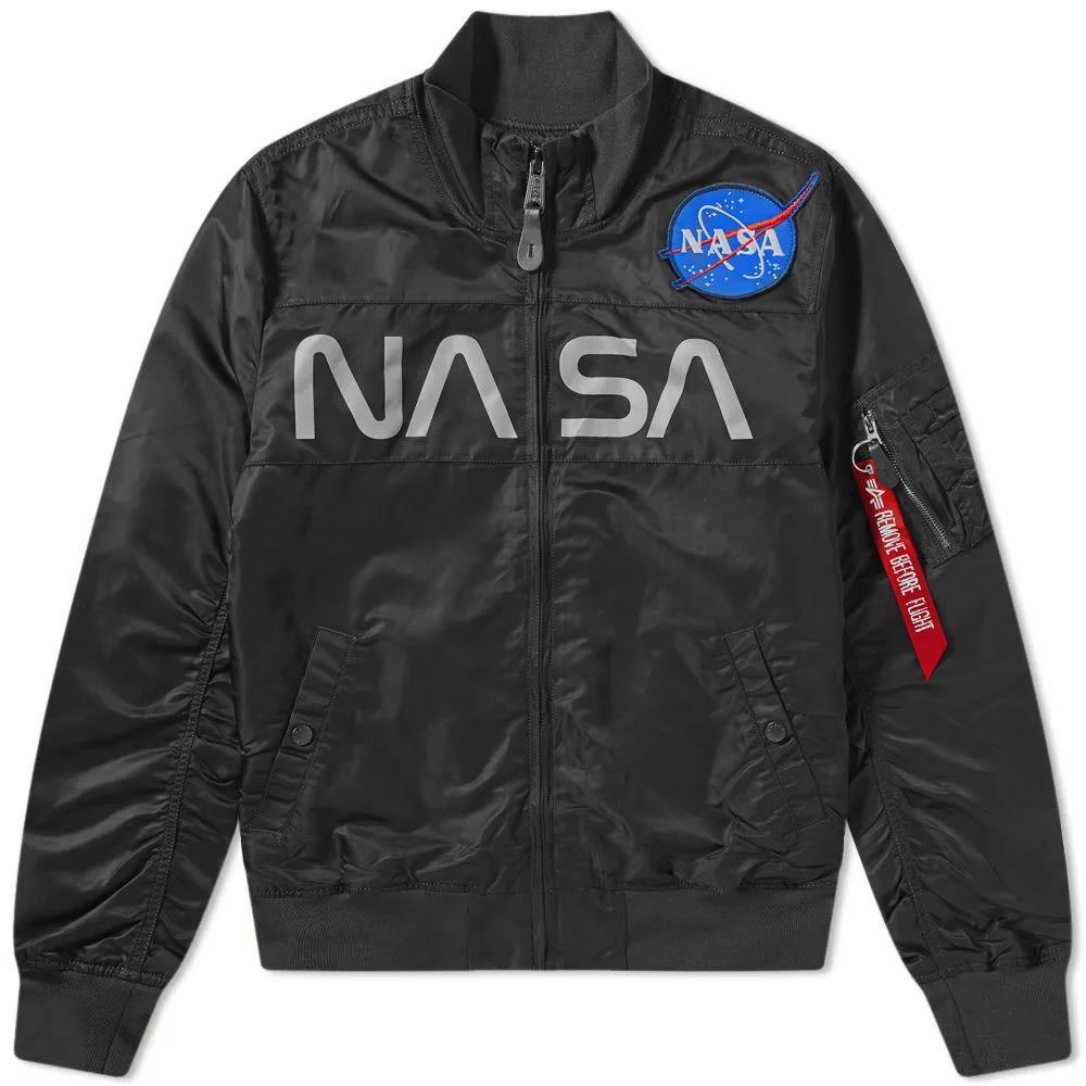 アルファ インダストリーズ Alpha Industries メンズ ジャケット アウター【nasa funnel neck jacket】Black