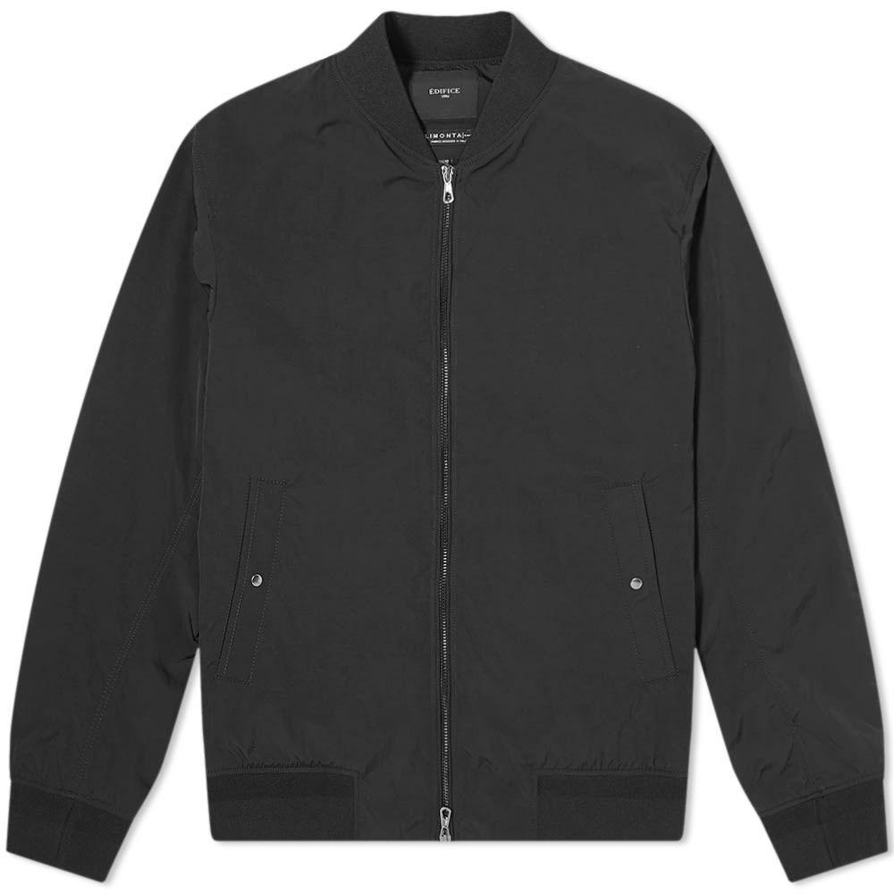 エディフィス Edifice メンズ ブルゾン ミリタリージャケット アウター【Nylon Bomber Jacket】Black
