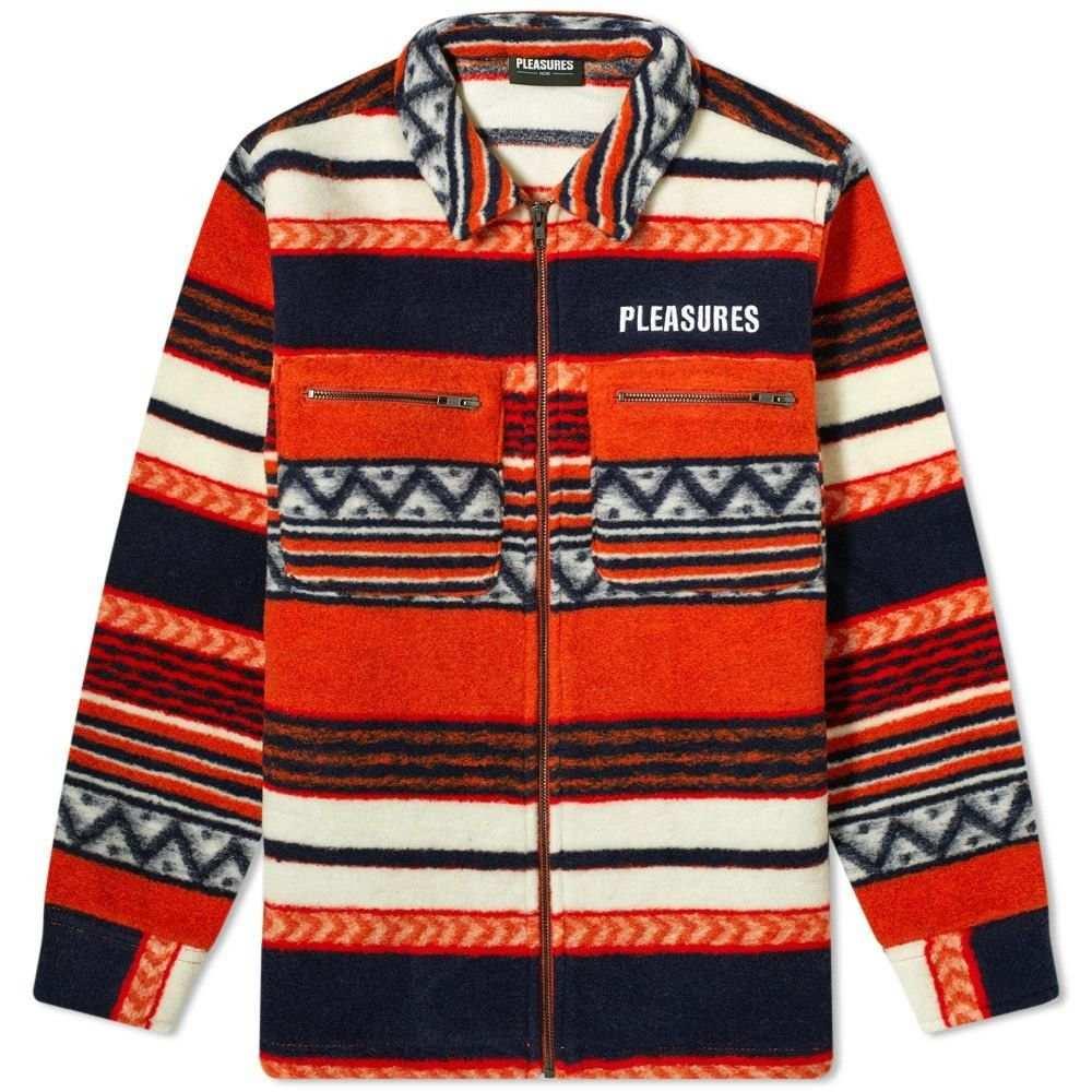 プレジャーズ PLEASURES メンズ フリース トップス【Explorer Fleece Jacket】Orange