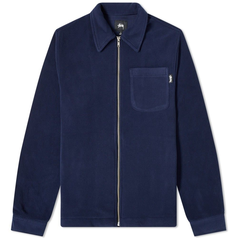 ステューシー Stussy メンズ フリース トップス【Polar Fleece Zip Shirt】Navy