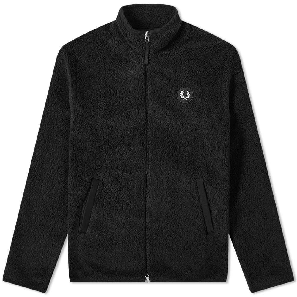 フレッドペリー Fred Perry Authentic メンズ フリース トップス【Fred Perry Borg Zip Up Fleece Jacket】Black