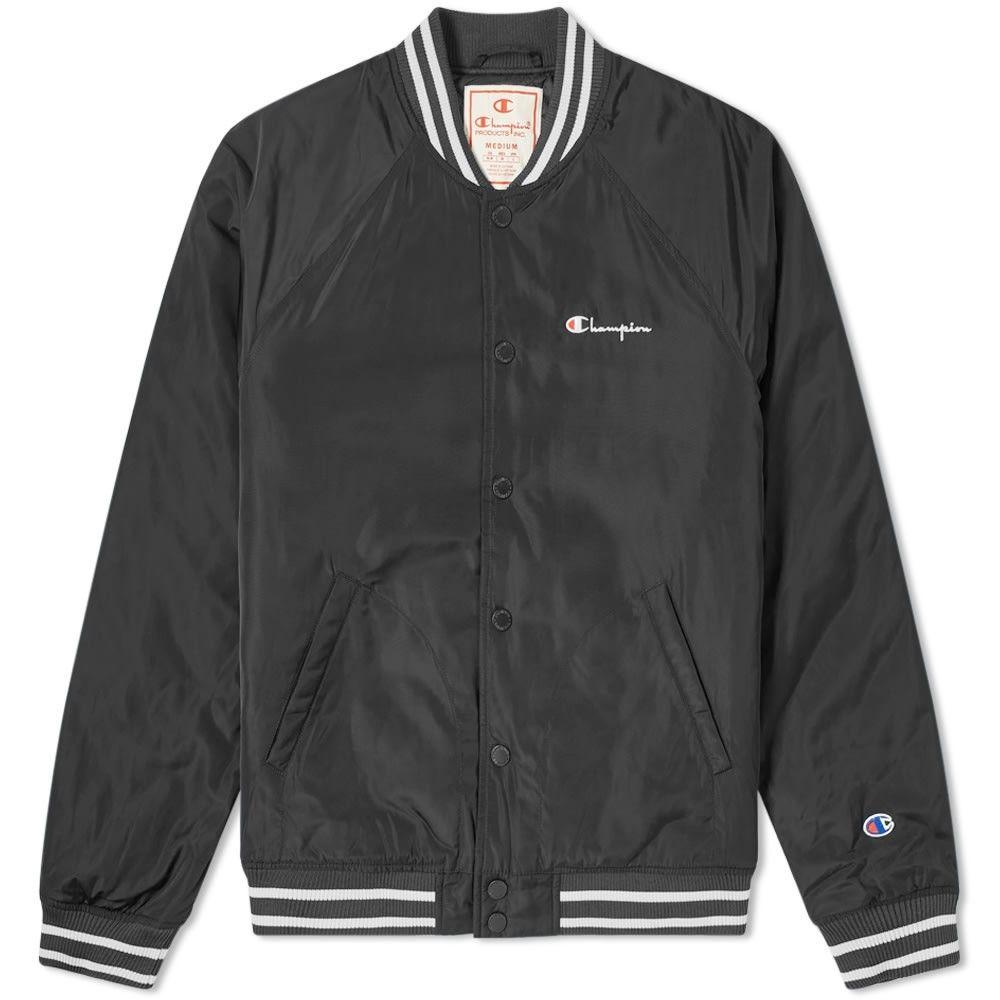 チャンピオン Champion Reverse Weave メンズ ブルゾン アウター【Varsity Jacket】Black