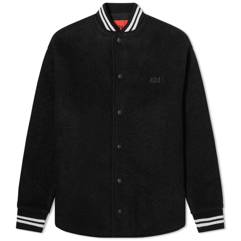 フォートゥーフォー 424 メンズ ブルゾン アウター【Wool Varsity Jacket】Black