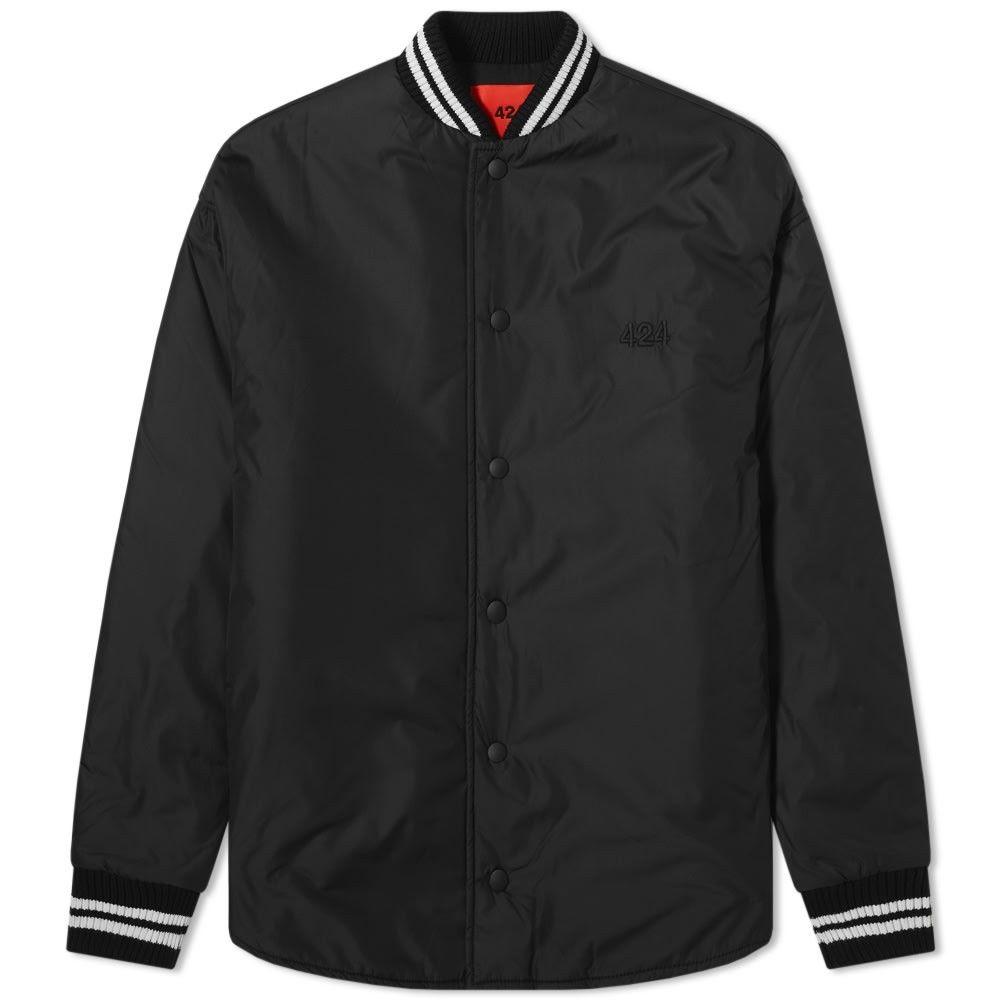 フォートゥーフォー 424 メンズ ブルゾン アウター【Nylon Varsity Jacket】Black