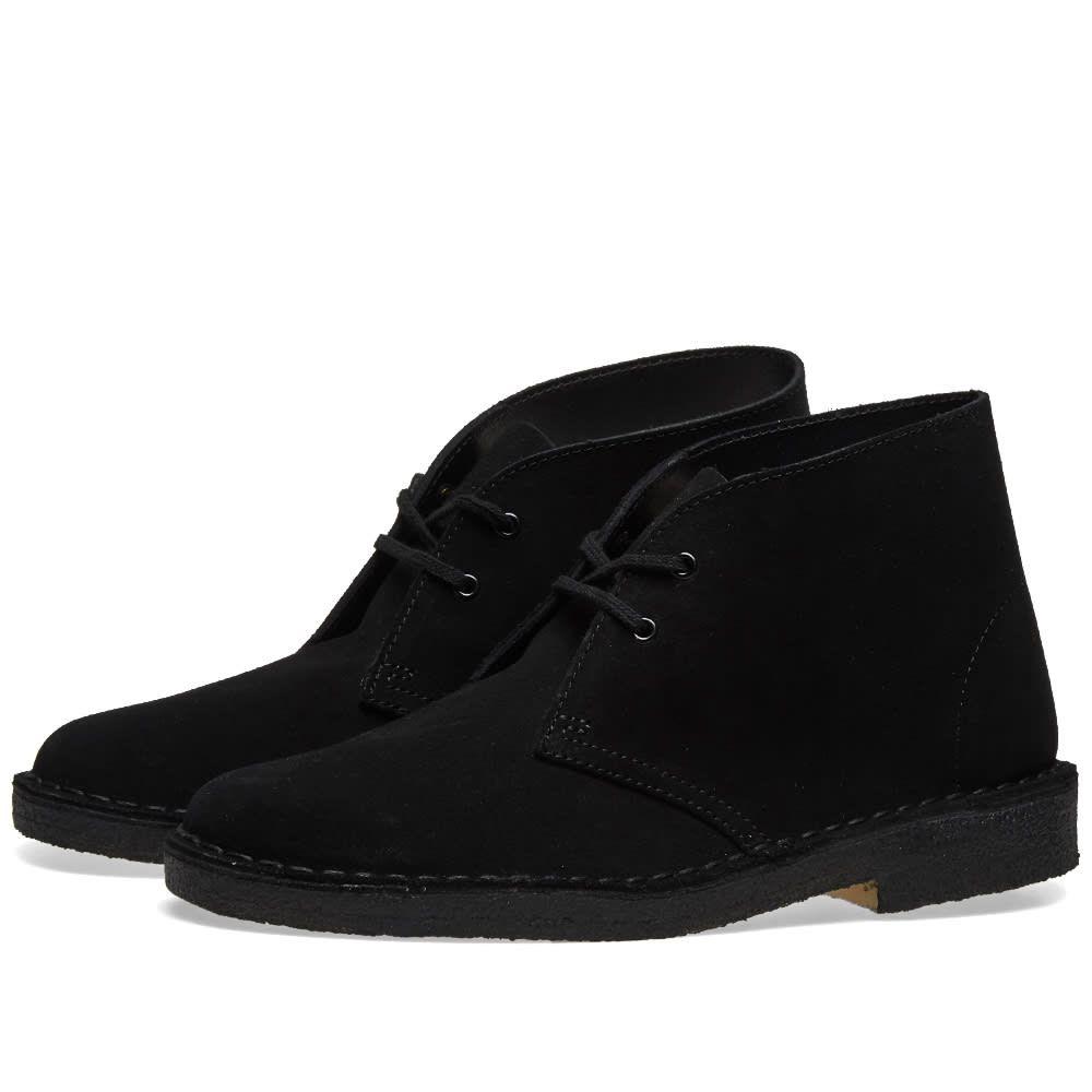 クラークス Clarks Originals レディース ブーツ シューズ・靴【Desert Boot W】Black Suede