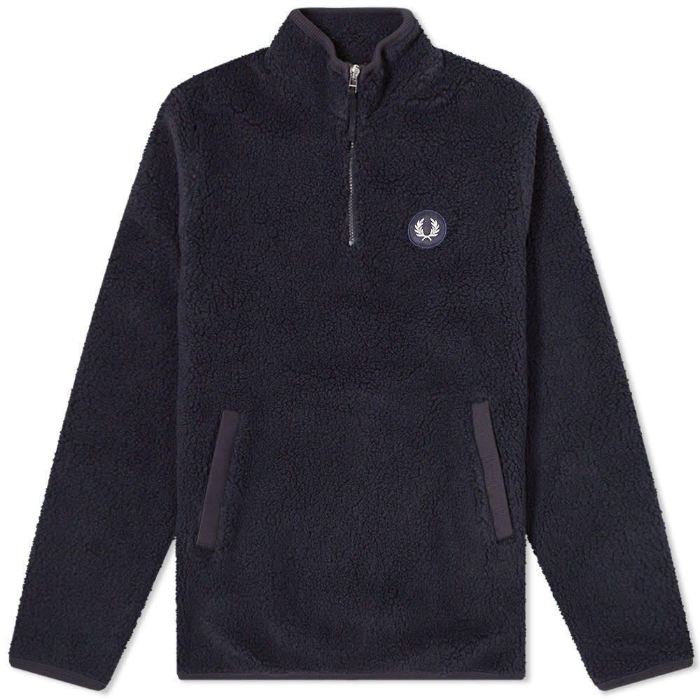 フレッドペリー Fred Perry Authentic メンズ フリース トップス【Fred Perry Borg Half Zip Fleece Jacket】Navy